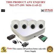 Cp Plus 1 MP Full HD CH DVR + Cp plus HD CP-Dome IR CCTV Camera 4Pcs + 1TB HDD + POWER SUPLAY + BNC + DC