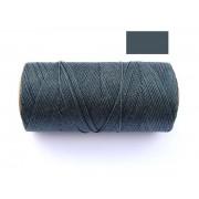 Macrame Koord - DONKER GRIJS / DARK GREY - Waxed Polyester Cord - Klos 914 cm - 1mm dik