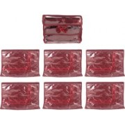 Annapurna Sales Designer Single Saree Covers and Churi/Bangles Case - Set of 7 Pcs. Maroon00134(Maroon)