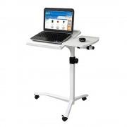 Mesa Notebook CBX-NB407W Branco Luxo Altura Ajustável Reclinável