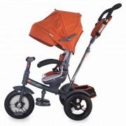 Tricicleta multifunctionala cu roti gonflabile Coccolle Giro Plus Caramiziu