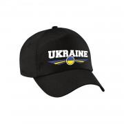 Bellatio Decorations Oekraine / Ukraine landen pet / baseball cap zwart kinderen