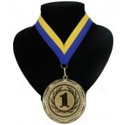 Geen Landen lint nr. 1 medaille geel en blauw