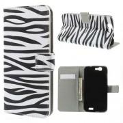 B2Ctelecom Huawei Ascend G7 Wallet Stand Case Hoesje Zebra