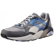 Puma Unisex R698 Mesh-Neoprene Glacier Gray, White and Drizzle Mesh Sneakers - 6 UK