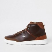 Lacoste Brown leather hi top trainers (Size 11)