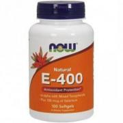 Витамин Е-400 + Селен - Vitamin E-400 + Selenium - 100 гел капсули - NOW FOODS, NF0906
