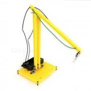 Kit educativo educativo del experimento de la lampara de tabla de DIY - naranja + negro (2 * AA)