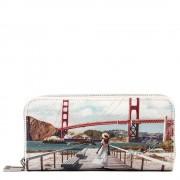 Y Not? Portafoglio Donna con Doppia Zip Y NOT L-368 Golden Gate