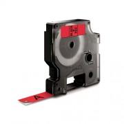 Dymo D1 DY45017 laminált feliratozószalag, 12mm, fekete/piros