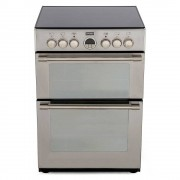 Stoves Sterling 600E Stainless Steel Ceramic Electric Cooker with Double Oven