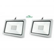 AURALUM 2×Auralum 20W Projecteur à LED Ultraléger pour Éclairage Extérieur et