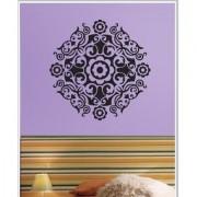 Decor Kafe Sticker Style Floral Pattern Wall Sticker (24x24 Inch)