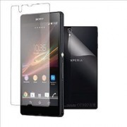 Sony Xperia Z L36h Clear HD Screen Protector Scratch Guard (front Back)