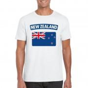 Shoppartners Nieuw Zeelandse vlag shirt wit heren