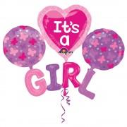 Balon Folie 129 x 101 cm It's A Girl, Amscan 31217