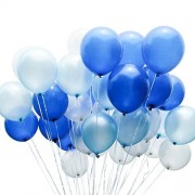LAttLiv Balloons Blue Latex Balloons 12 Inches 100 Piece,White/Blue/Light Blue
