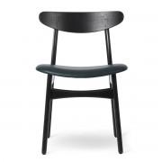 Carl Hansen - CH30P Stuhl, Eiche schwarz lackiert / Leder Thor schwarz