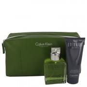 Calvin Klein Eternity EDT Spray 3.4oz / 100.6mL + After Shave Balm 3.4oz / 100.6mL In Eternity Men Bag Gift Set 542013