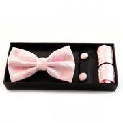 Papion, butoni si batista de culoare roz