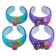 Saamarth Impex 4pc/Lot Fashion Kids Cuff Bangle Bracelet With Catoon Design -In Bangles Jewelry Accessories SI-5842