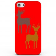 Own Brand Raindeers Phone Case for iPhone & Android - 4 Colours - Samsung Galaxy S6 - Red