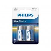 Philips LR14E2B/10 - 2 buc Baterie alcalina C ULTRA ALKALINE 1,5V