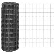 vidaXL Euro Fence kerítés 10 x 1 m, 100 mm-es szürke acélhálóval