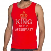 Toppers official merchandise Rood Toppers King of the afterparty glitter tanktop shirt heren