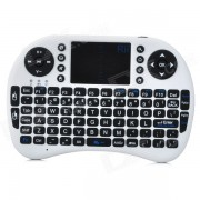 Rii genuino Mini I8 Mini Wireless QWERTY 92-Key Teclado Raton Touchpad con receptor USB