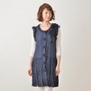シャドーチェック ティアードジレ【QVC】40代・50代レディースファッション