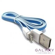 USB data kabal LDNIO XS-07A za Iphone 5G/5S/SE/5C/6/6 PLUS 1m plavo-beli