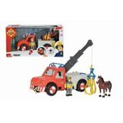 Pompierul Sam - Set Camion de pompieri cu remorca
