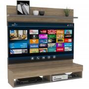 Mueble Panel Pared Tv60 TuHome - Miel / Plomo