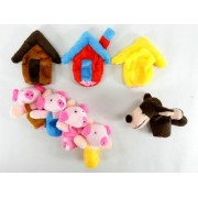 3 Little Pigs pig's three brothers mother pig wolf Ouchi puppet 8-piece set this just immediately tell the Board can