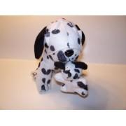 "7"" Dog Stuffed Animal Holding Puppy ~ Dalmatian"