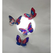 4-Piece Set Magnetic Stick Memo Pad Refrigerator Decor Handmade Butterfly (4 Little Butterflies)