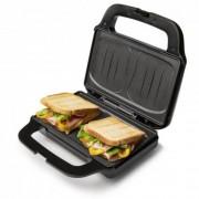 Sandwich maker XL Domo DO9195C, Putere 900 W, 2 Felii, Placi Non Stick, Inox