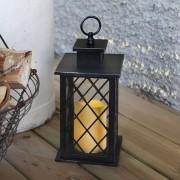 Black LED decorative lamp Jaipur Lantern