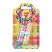 Chupa Chups Lip Balm tonalità Juicy Watermelon confezione regalo balsamo labbra 4 g + balsamo labbra 4 g Peach Passion per bambini