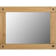 Corona Large Wall Mirror in Distressed Waxed Pine