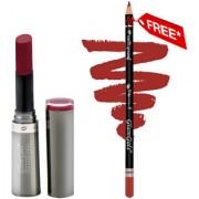 Buy GlamGals Crme Matte Lipstick Hot Red 3 gm & Get Lip Liner Pencil Free