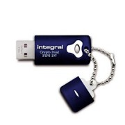 Memorie flash Integral USB CRYPTO DUAL 16GB-criptare hardware pe 256biti,FIPS197
