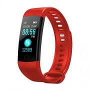 DishyKooker Reloj inteligente, pulsera de actividad física, monitor de frecuencia cardíaca, IP67, impermeable, color rojo, regalo práctico