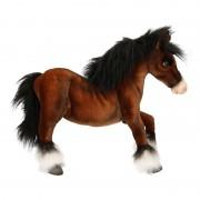 Hansa Realistische paarden knuffel Clydesdale 50 cm