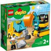 Lego DUPLO Town (10931). Camion e scavatrice cingolata