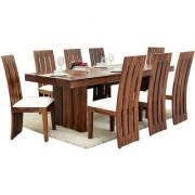 Harshita Handicraft's Woww Room Sheesham 8 seater dining set
