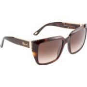 CHOPARD Retro Square Sunglasses(Brown)