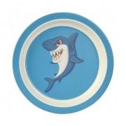Merkloos Bamboe ontbijtbordjes haai voor kinderen 21 cm