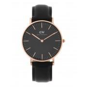 ユニセックス DANIEL WELLINGTON CLASSIC BLACK SHEFFIELD WATCH RG 36MM 腕時計 ブラック